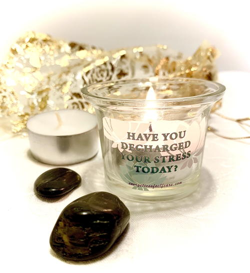 black rocks for stress relief in a gift set