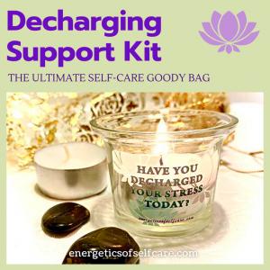 Buy de stressing kit, includes votive holder and stones