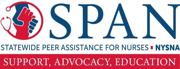 SPAN Statewide Peer Assistance for Nurses - support, advocacy, education